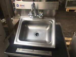 Omcan Commercial Stainless Steel Hand Wash Washing Wall Mount Sink