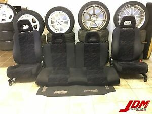 Jdm Rare Honda Civic Ek4 Vti Sir Ferio Seats Front Rear Pair 96 00 Hatchback