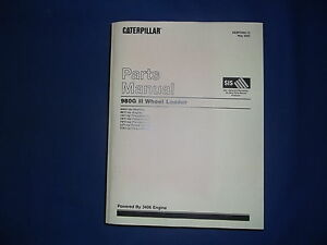 Cat Caterpillar 980g Ii Wheel Loader Parts Book Manual S n Awh1 up