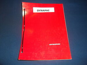 Dynapac Cc412 Asphalt Roller Operation Maintenance Parts Book Manual 3 Books