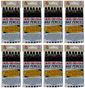 New 48 pack Black Retractable Wax Pencils Grease Markers China Gel Marking Pen