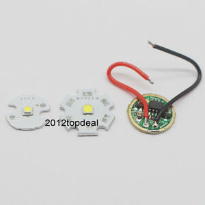 Cree 10w Xpl Xp l Led Emitter White Chip 16 20mm Pcb input 16mm 3 7v Led Driver