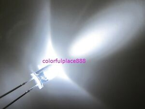 1000pcs 5mm White 20 000mcd Round High Power Super Bright Water Clear Led Leds