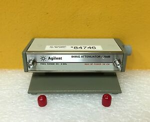 Agilent 8495g 002 Dc To 4 Ghz Sma Programmable Step Attenuator Stand Tested