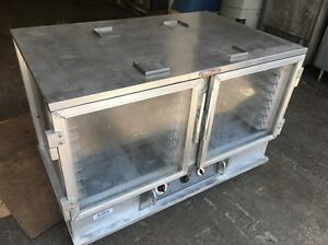 Servolift Portable 2 Door Glass Front Heated Holding Proofing Cabinet