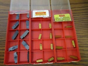 Sandvik New Carbide Inserts Lot Of Part off groove Inserts