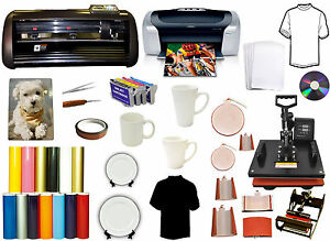 13 Metal Vinyl Cutter Plotter 8in1 Combo Heat Press printer refil latta Mugs pu