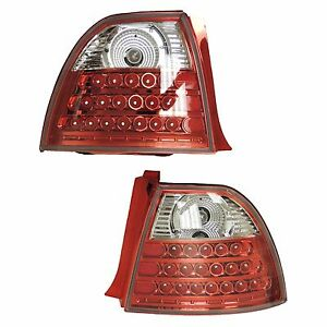 1994 1995 94 95 Honda Accord Led Taillight Tail Light Lamp Pair Set Red Chrome