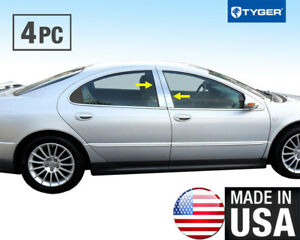 Tyger Fits 98 04 Dodge Intrepid 4pc Stainless Steel Chrome Pillar Post Trim