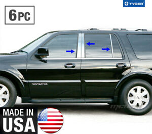 Tyger Fits 97 2017 Lincoln Navigator 6pc Stainless Steel Chrome Pillar Post Trim