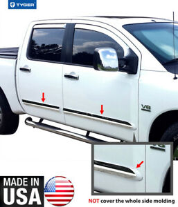 Tyger For 04 2015 Nissan Titan Crew Cab Body Side Moulding Trim 3 Wide 4pc