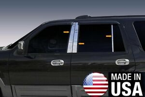 Tyger For 97 2017 Ford Expedition 6pc Stainless Steel Chrome Pillar Post Trim
