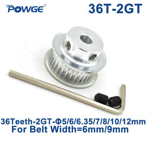 36 Teeth 2gt Pulley Bore 5 6 35 8mm For Width 9mm Gt2 Open Synchronous Belt 36t