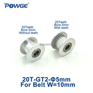20 Teeth Gt2 Idler Pulley Bore 5mm For Width 10mm 2gt Timing Belt 20t 3d Printer