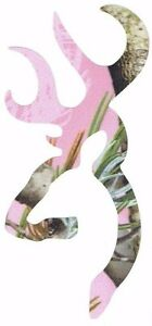 Browning Buck Pink Realtree Camo Vinyl Decal Truck Car Laptop