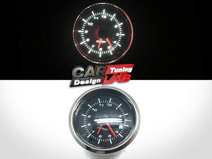 52mm Clock Time Car Auto Yacht Gauge Meter White Led Clear Lens 12v Waterproof