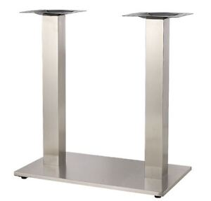 New Indoor Stainless Steel Base Restaurant Seating Furniture Table Top base011