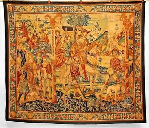 Continental Belgian Style 19th Cent Woven Tapestry