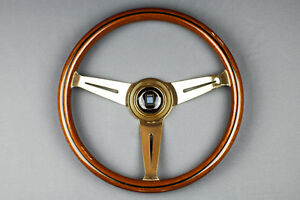 Authentic 360mm Nardi Classic Gold Plated Steering Wheel Rare Jdm