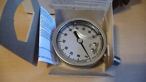 Ashcroft Industrial Duralife Gauge 25 1009 Swl 02l 100 Psi Lot Of 2 New