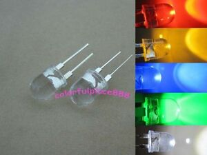 10mm 0 5w Red Yellow Blue Green Warm White Led Diodes High Power Large Chip Leds
