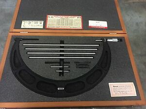 Starrett No 224m Set D Micrometer Caliper 300mm To 400mm Range
