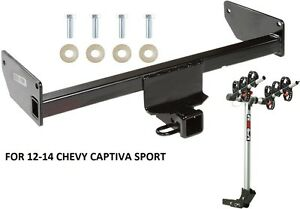12 14 Chevy Captiva Sport Trailer Hitch Complete Rola 3 bike Rack Carrier Pkg