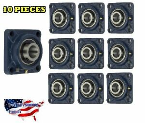 Ucf208 24 Pillow Block Flange Bearing 1 1 2 Bore 4 Bolt Solid Base 10pcs