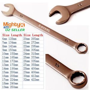 6 32mm Cr V Long Series Combination Spanner Ring Open End Wrench