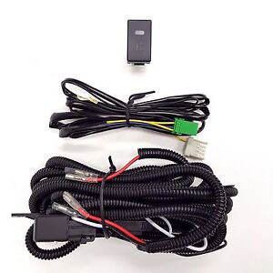 12v 30a Fog Light Wiring Harness Relay Kit On Off Led Switch H3 2 Plugs Wire