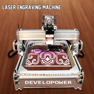 2000mw A5 17 X 20cm Diy Laser Engraving Engraver Cutter Logo Marking Printer 2w
