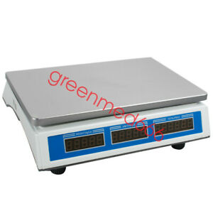 66lbs Usa Scale Food Price Digital Computing Produce Meat Deli Weight Counting