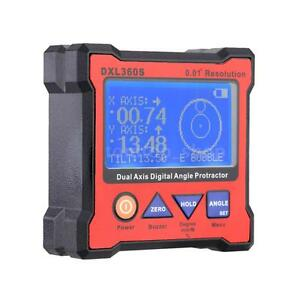 Dual Axis 0 01 Resolution Lcd Digital Angle Protractor Inclinometer Dxl360s