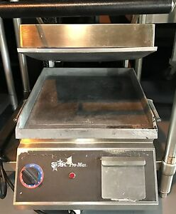Star Pro max 14 2 Sided Commercial Panini Sandwich Grill W Grease Draw