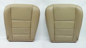 2002 2007 Ford F250 F350 Lariat Driver Passenger Bottom Leather Seat Cover Tan