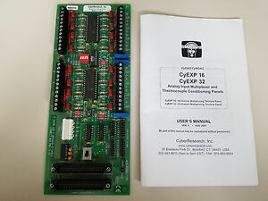 Cyberresearch Cyexp 16 Analog Inputmultiplexer Thermocouple Conditioning Panel