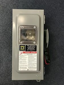 New Square D Hu361awkvwei Non fusible Safety Switch 30 A 600 Vac