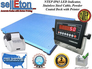 Ntep Legal 48 X 48 4 Floor Scale Industrial Warehouse Printer 10 000 X 2lb