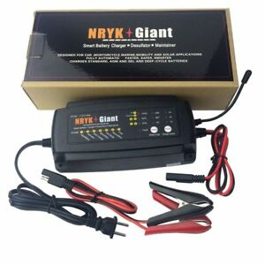 24v 1a 2a 4a Smart Car Battery Charger Maintainer For Agm Gel Wet Batteries