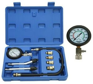 Petrol Gas Compression Gauge Test Set Auto Engine Cylinders Diagnostic Tester