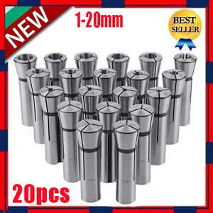 20 Pc Metric R8 Collet Set 1mm To 20mm High Precison For Bridgeport 20 Piece New