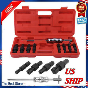Hot 9pc set Blind Hole Pilot Bearing Gear Puller Slide Hammer Removal Repair Kit