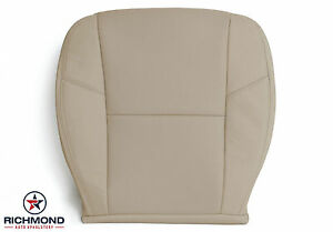 2011 Gmc Sierra 2500 Hd Denali driver Bottom Perforated Leather Seat Cover Tan