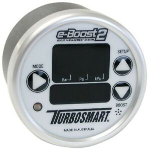 Turbosmart Eboost2 Ebc Electronic Turbo Boost Controller With 60mm Gauge white