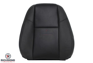 2009 2014 Gmc Sierra Denali driver Lean Back Perforated Leather Seat Cover Black