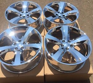 Set Of Four 4 20 Wheels Rims Fit Dodge Charger Challenger Magnum Pvd Chrome New