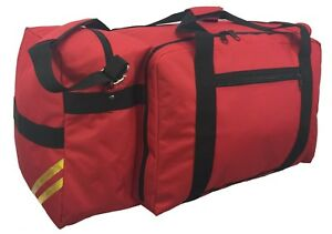 Fire Fighter Rescue Duffel Fireman Gear Travel Bag Shoulder Strap Helmet Pocket