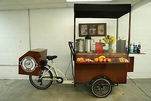 New cafe On Wheels Mobile Food Cart vending coffee Cart coffee Bike