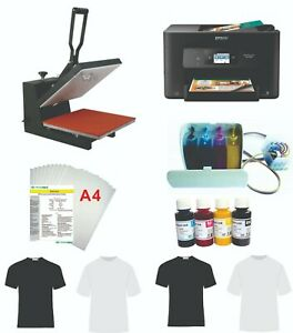 12 x15 5in1 Professional Sublimation Heat Press Epson Printer C88 Ciss Kit