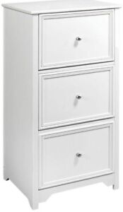 White File Cabinet 3 drawer Home Office Storage Drawers Easy Assembly